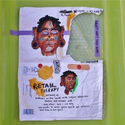 Mixed media works by Savanna Achampong